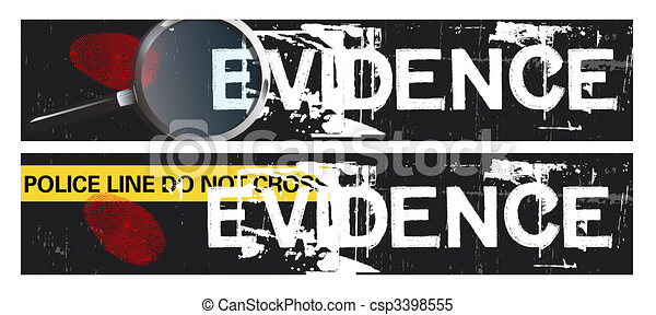 Crime Themed Banners - csp3398555