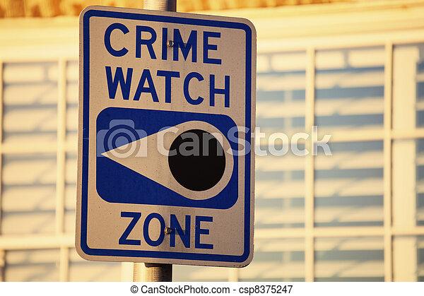 Crime watch zone - csp8375247