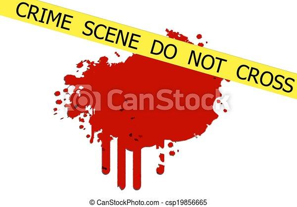 La escena del crimen no se cruza - csp19856665