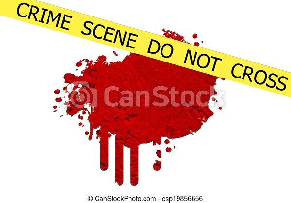 La escena del crimen no se cruza - csp19856656
