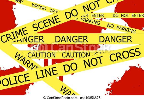 La escena del crimen no se cruza - csp19856675