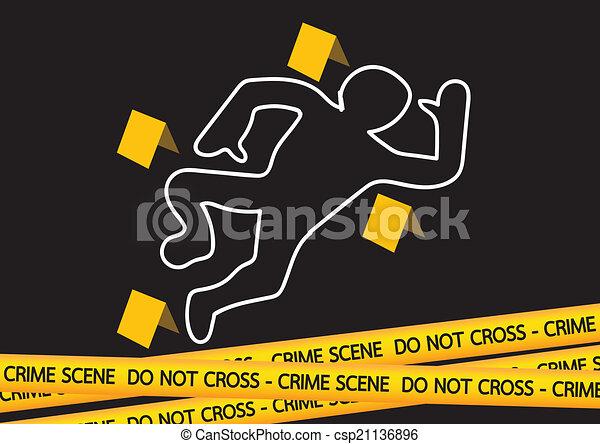 Ilustración de cintas de peligro del crimen - csp21136896