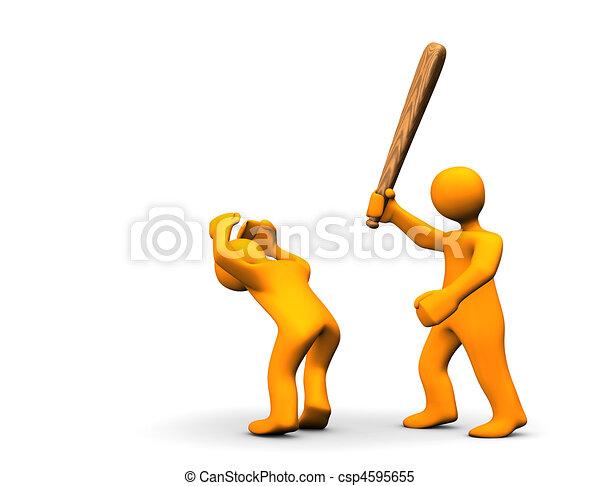 Un delito violento - csp4595655