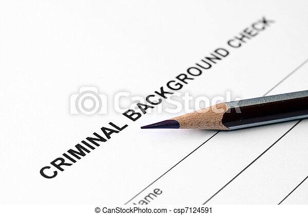 Criminal background check - csp7124591