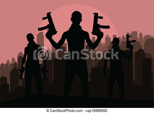 Criminal danger vector background people - csp16989060