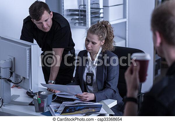 Criminal investigation department - csp33368654