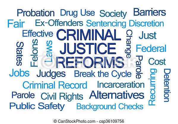 Criminal Justice Reforms Word Cloud - csp36109756