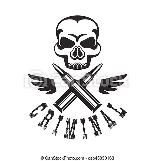 Criminal outlaw street club black and white sign design clip criminal outlaw street club black and white sign design template with text wings and scull monochrome vector emblem with ghetto symbols for prints and sciox Gallery