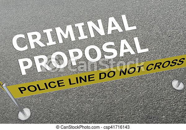 Criminal Proposal concept - csp41716143