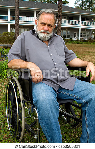 Cripple In Wheelchair - csp8585321