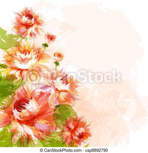 crisantemi, fondo - csp8892790