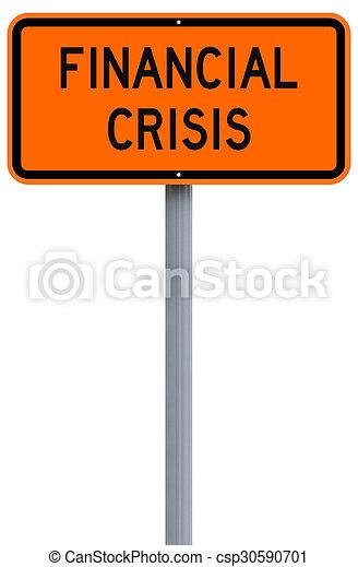 crise, devant, financier - csp30590701