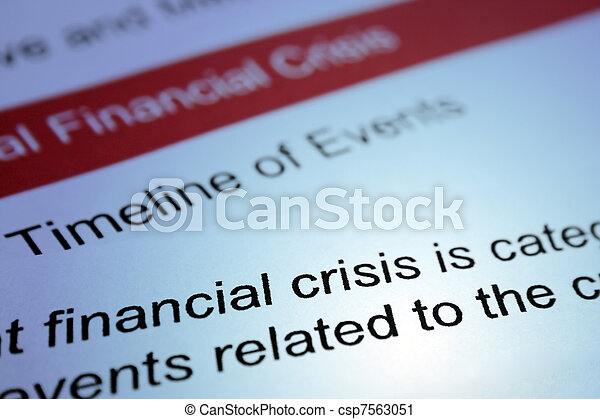 crise, financier - csp7563051
