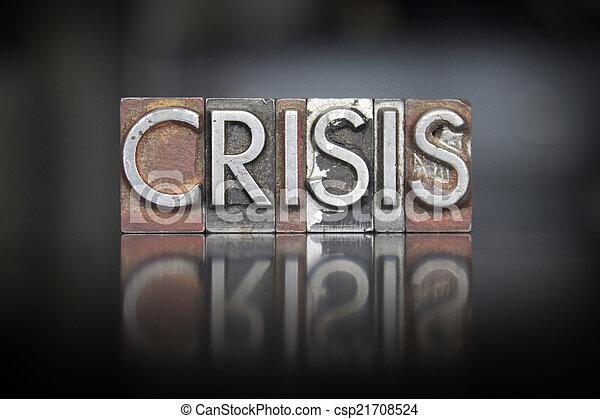 crise, letterpress - csp21708524