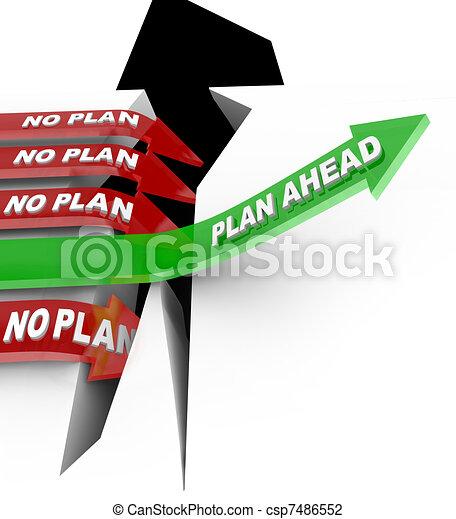crise, planification, problème, plan, surmonter, battements, non, devant - csp7486552