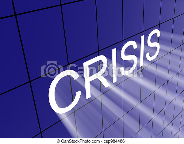 crisis on wall - csp9844861