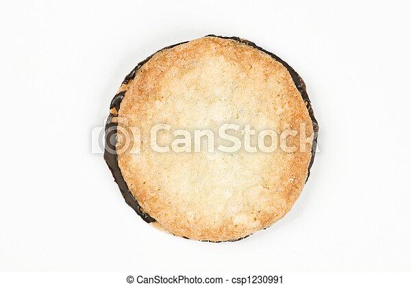 Crisp cookie sandwiched with dark chocolate - csp1230991