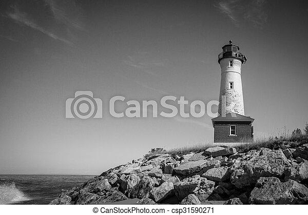 Crisp Point Lighthouse - csp31590271