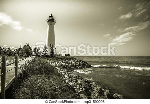 Crisp Point Lighthouse - csp31590295