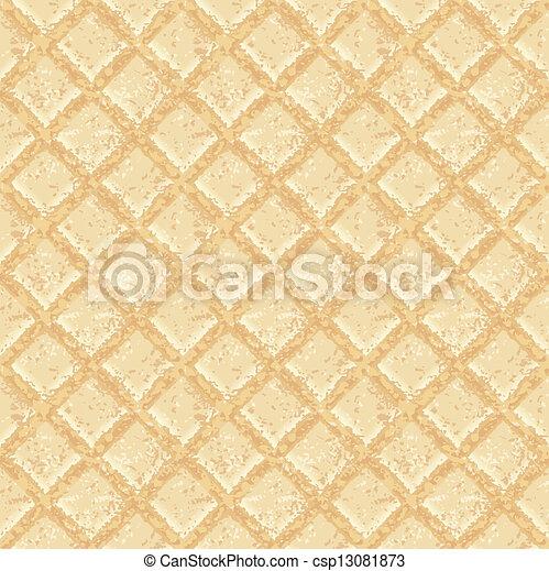 Crisp waffles pattern seamless texture - csp13081873