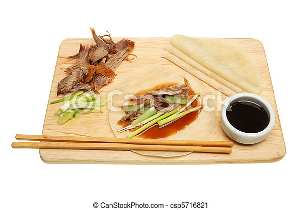 Crispy duck and pancakes - csp5716821