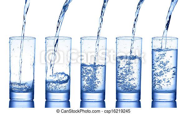 Un vaso de agua - csp16219245