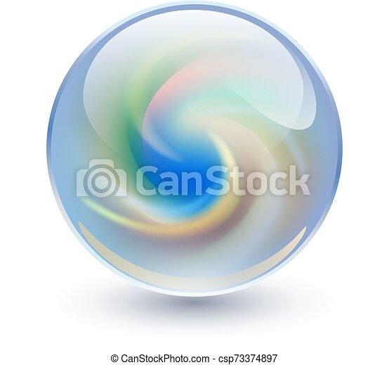 Cristal 3D, esfera de cristal - csp73374897