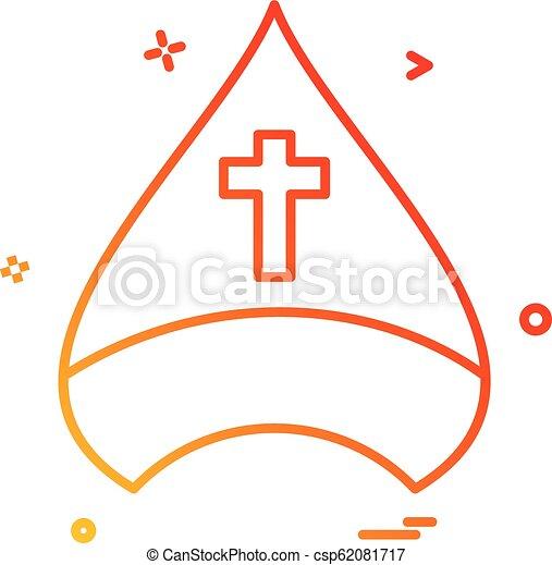 Diseño de vectores de iconos cristianos - csp62081717