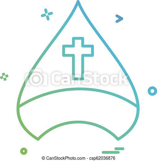Diseño de vectores de iconos cristianos - csp62036876