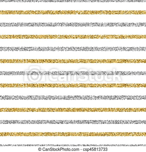 Cristmas seamless background with glitter gold and silver strips - csp45813733