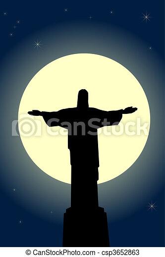 cristo, estatua, jesús - csp3652863