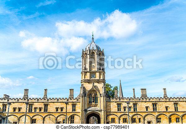 cristo, hermoso, universidad, oxford, iglesia, arquitectura, torre, tom - csp77989401