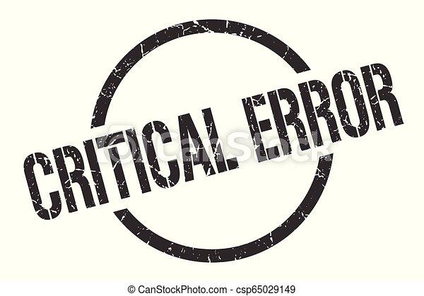 critical error stamp - csp65029149