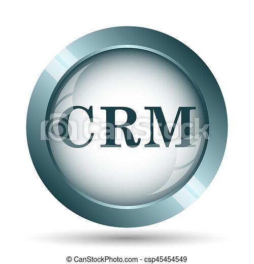 Crm Icon Internet Button On White Background