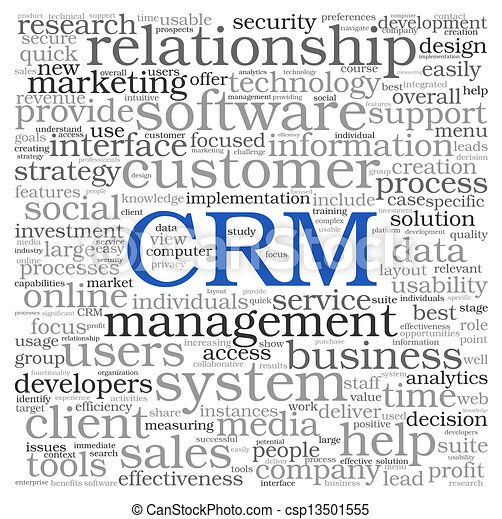 CRM in word tag cloud - csp13501555