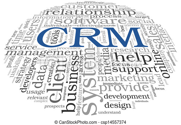 CRM in word tag cloud - csp14557374