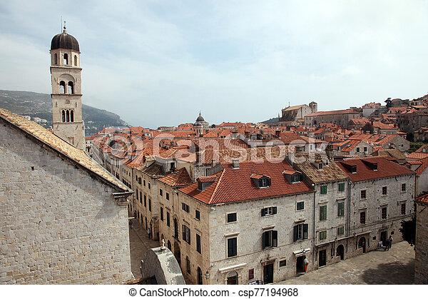 croatia, 光景, 都市, 古い, dubrovnik - csp77194968