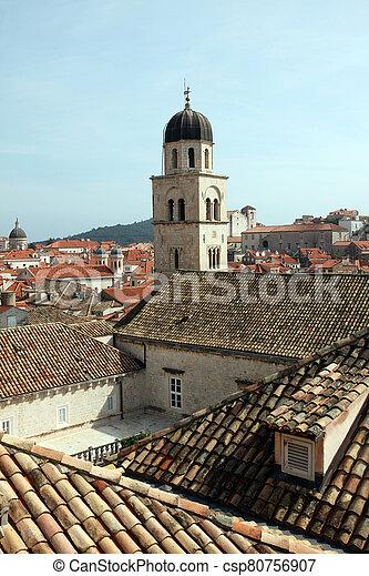 croatia, 都市, dubrovnik, 古い, 修道院, franciscan - csp80756907