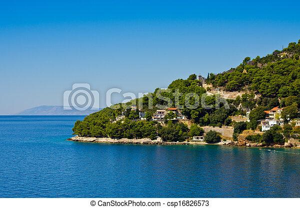 Croatian coast - csp16826573