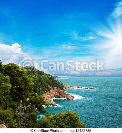Croatian coast - csp12422735
