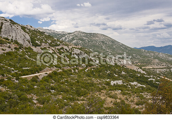 Croatian landscape in central of country. - csp9833364