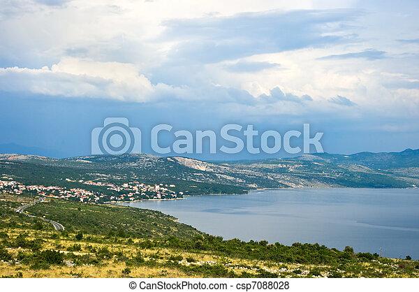 Croatian seashore - csp7088028