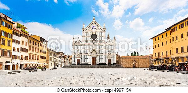 croce, フィレンツェ, 広場, santa - csp14997154