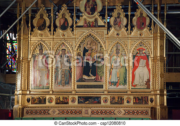 croce, 祭壇, -, santa, 本, フィレンツェ - csp12080810