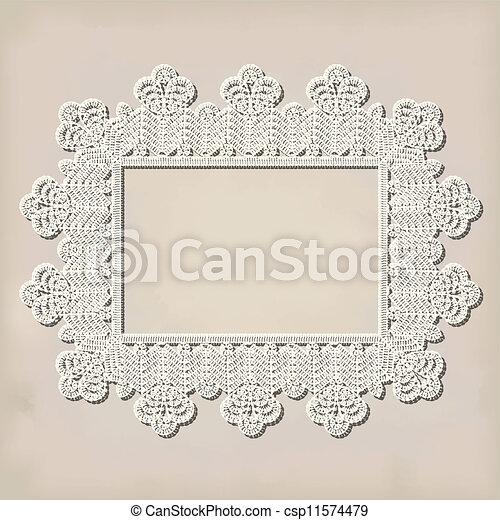 crochet doily - csp11574479
