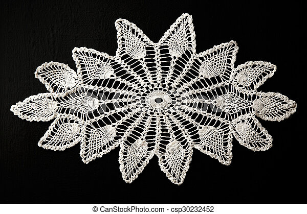Crocheted lace napkin - csp30232452