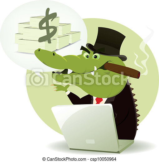 Crocodile Bankster Crook - csp10050964