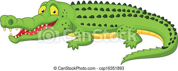 Crocodile cartoon  - csp16351893