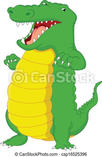 crocodile cartoon - csp16525396