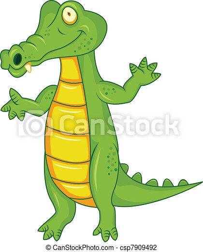 Crocodile cartoon - csp7909492